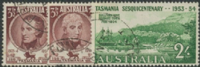 AUS SG268-70 150th Anniversary of Settlement in Tasmania set of 3 set in singles